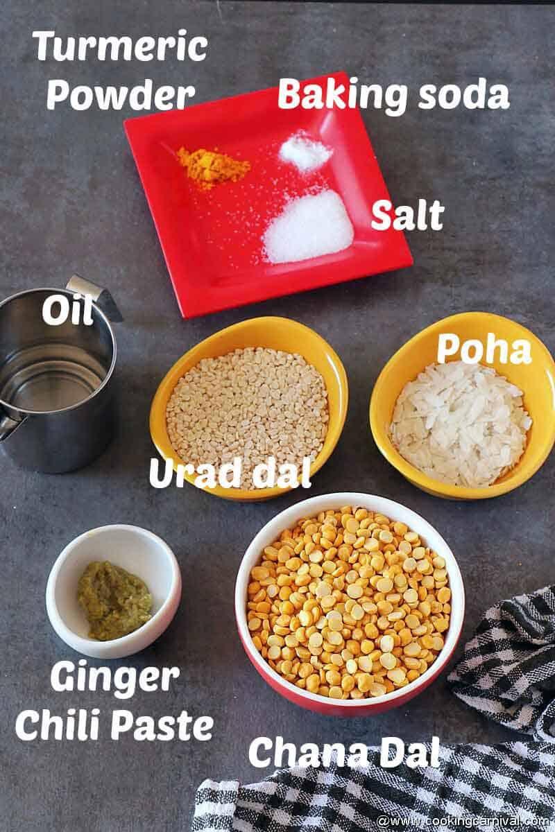 Pre measure ingredients for gujarati recipe locho