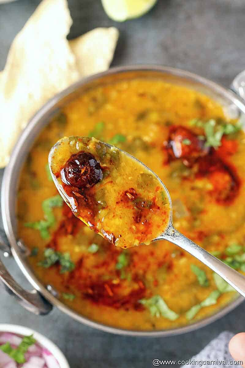Spoon full of lentil curry
