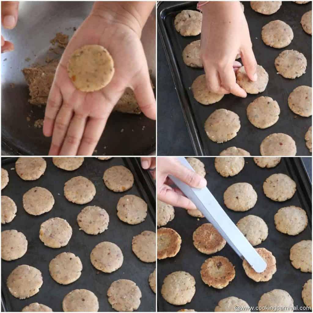 Baking savory cookies in oven