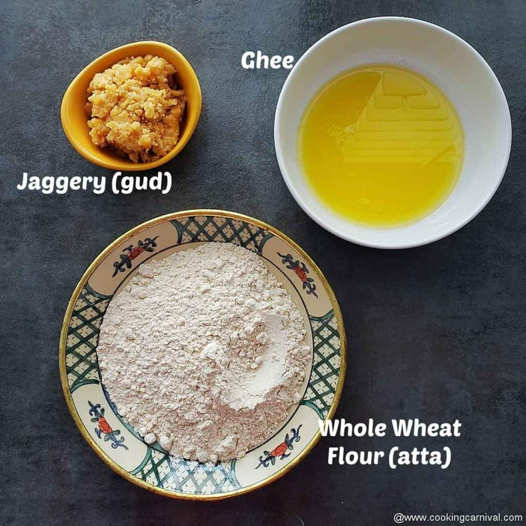 Ingredients for sukhdi