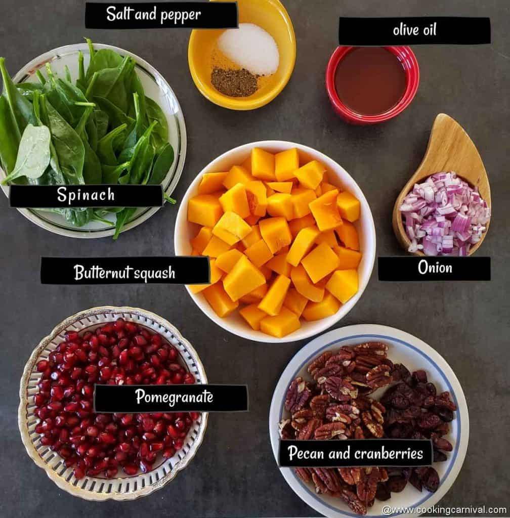 premeasured ingredients for fall salad