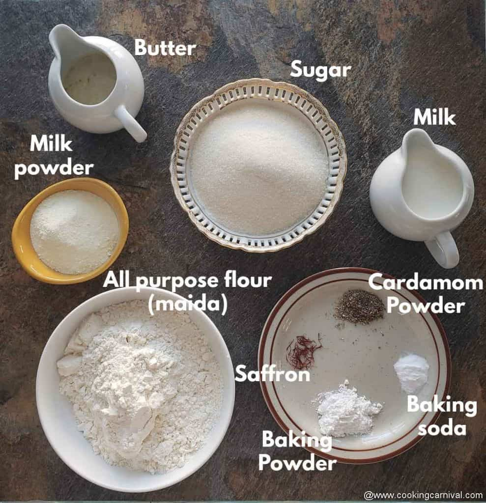 pre measured ingredients for rasmalai cake