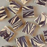 3 ingredient tiger fudge on paper