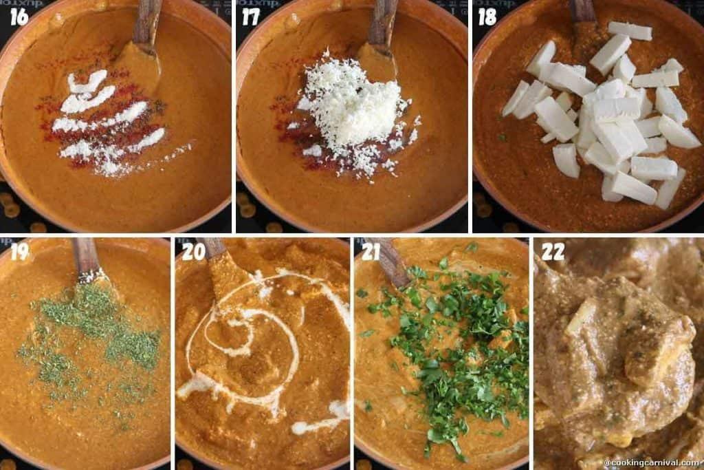 collage of paneer gravy recipe