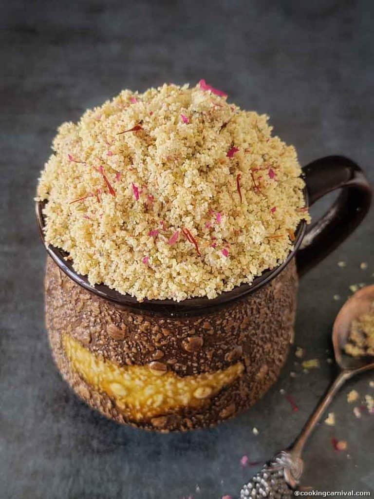 Thandai masala/powder in a cup