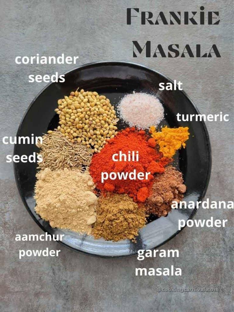 pre measured ingredients of frankie masala