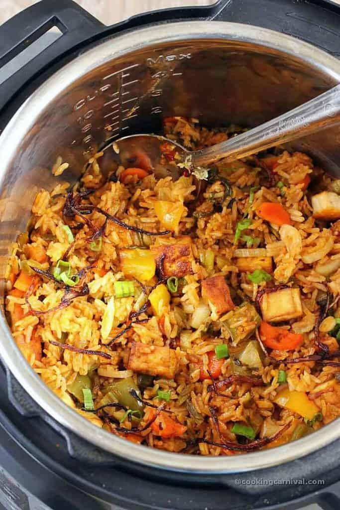 Vegan Nasi Goreng in instant pot