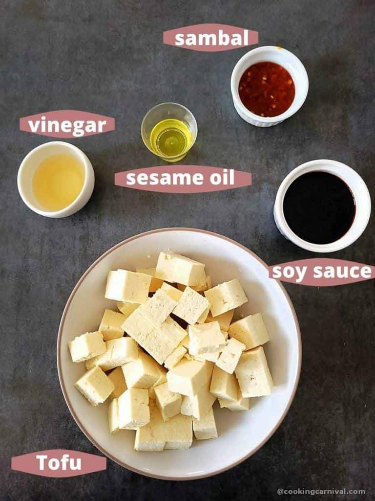 pre-measured ingredients for tofu poke