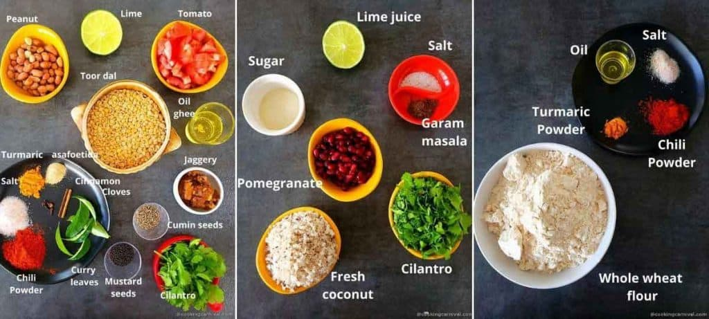pre-measured ingredients for stuffed dal dhokli