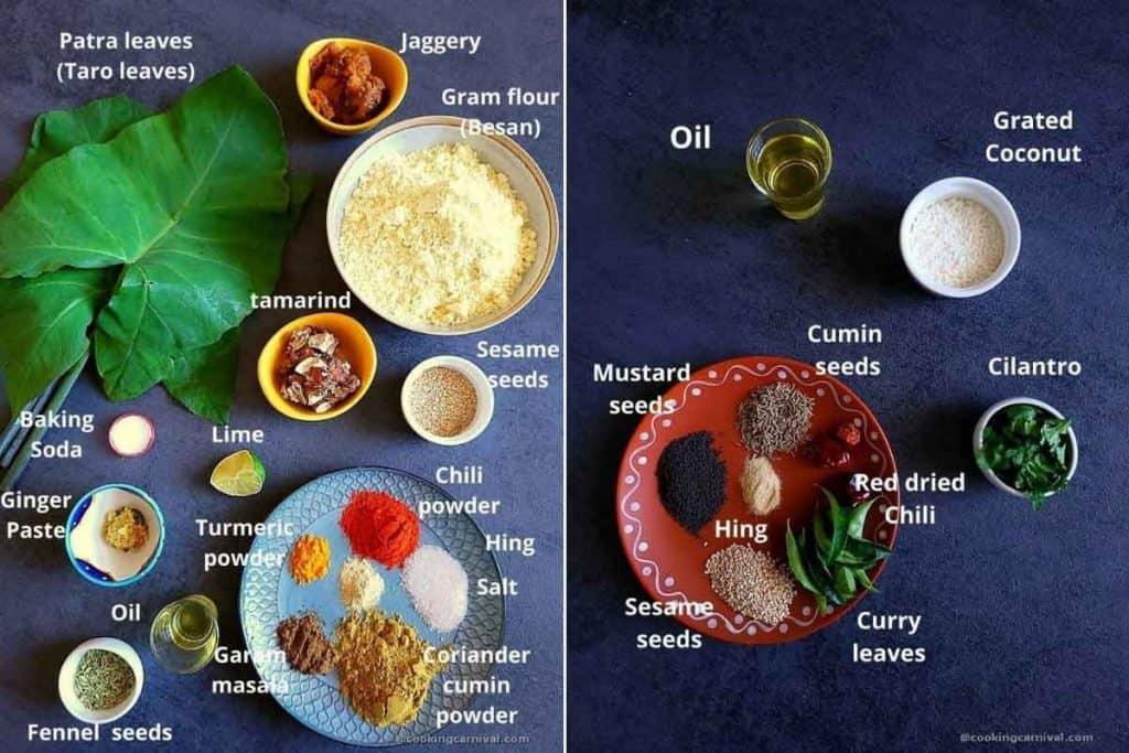 Premeasured ingredients for alu vadi