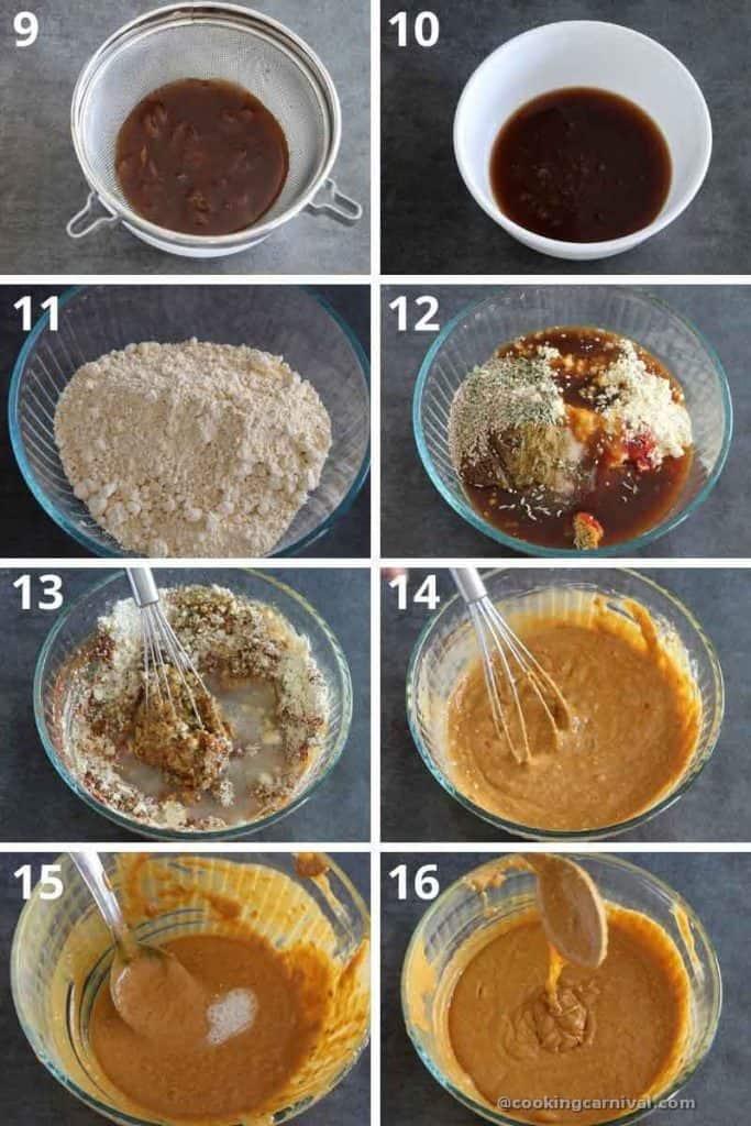 collage of making alu wadi paste
