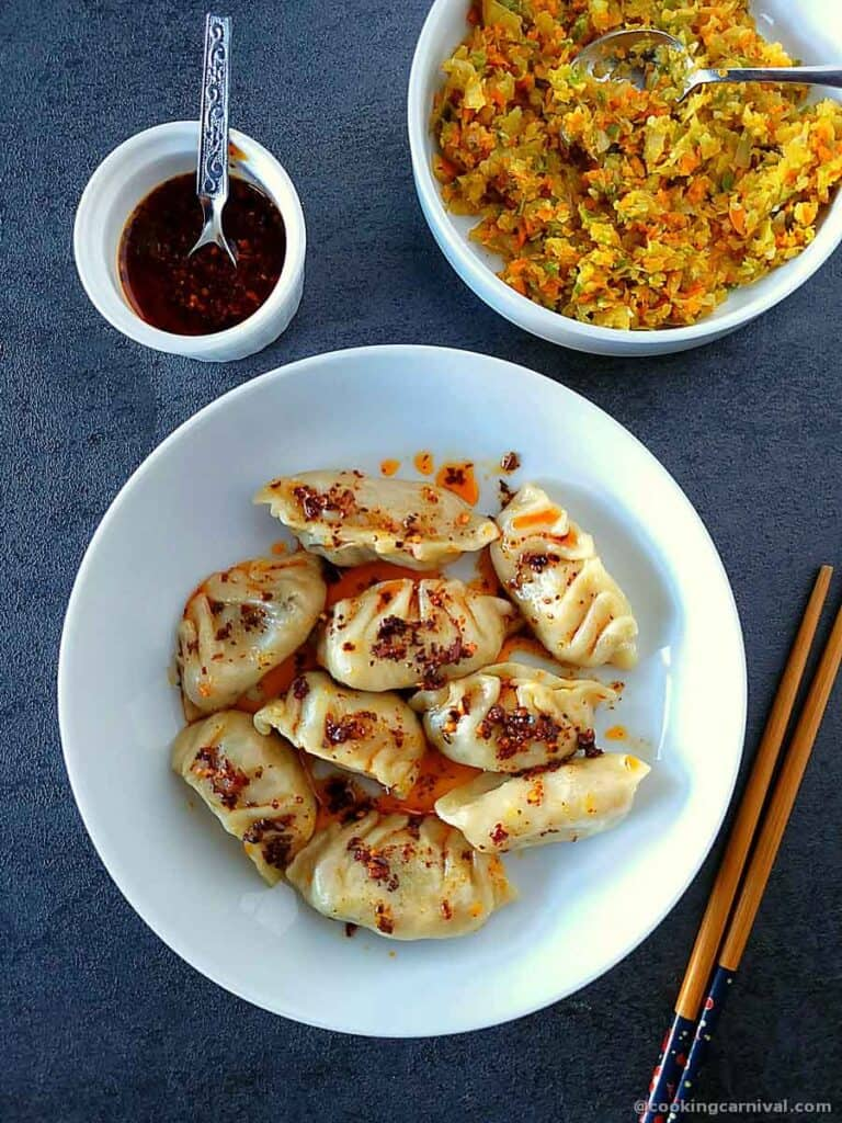 Dumplings with Chili oil