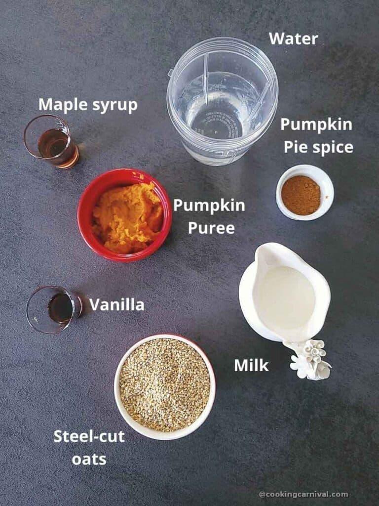 premeasured ingredients for steel cut oatmeal