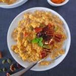 Instant pot Pumpkin pie oatmeal in a bowl