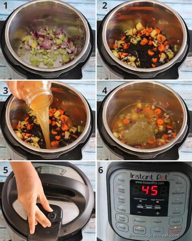 Vegetable Wild Rice Soup collage