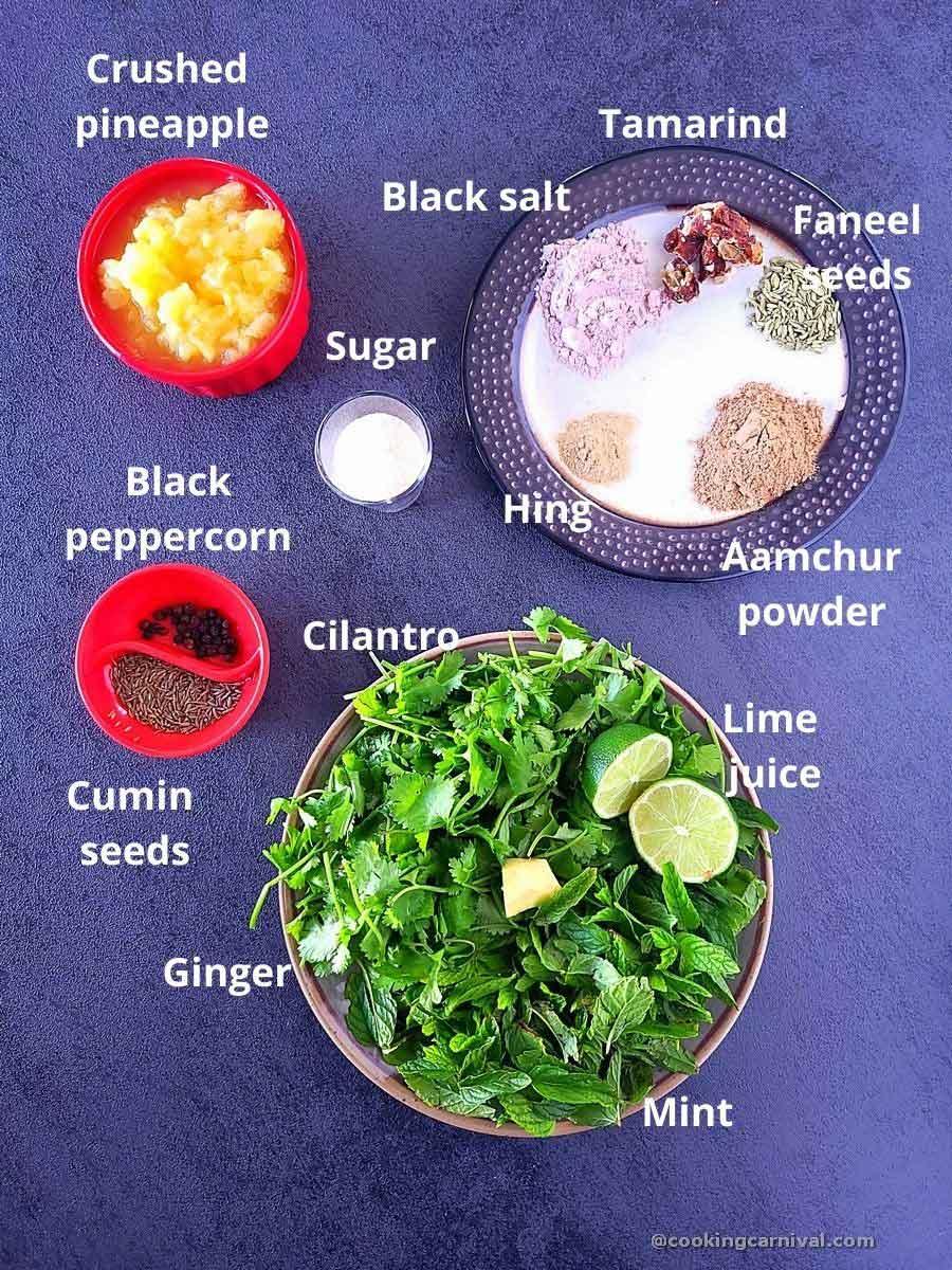 Jal Jeera ingredients