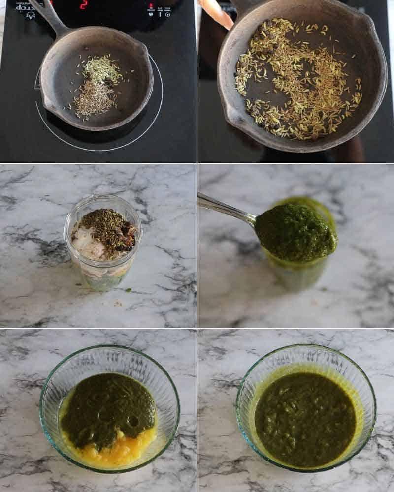 collage of making jal jeera  powder