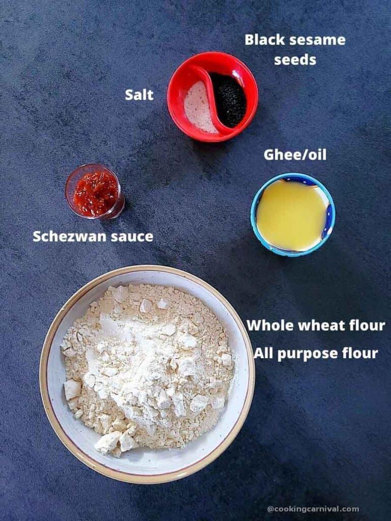 pre-measured ingredients to make mathri
